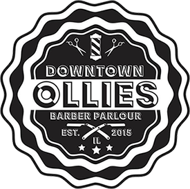 Downtown Ollies Barber Parlour Logo. Haircuts, shaves, and trims.